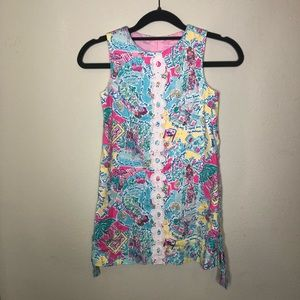 Lilly Pulitzer In the Beginning Print Dress Size 7